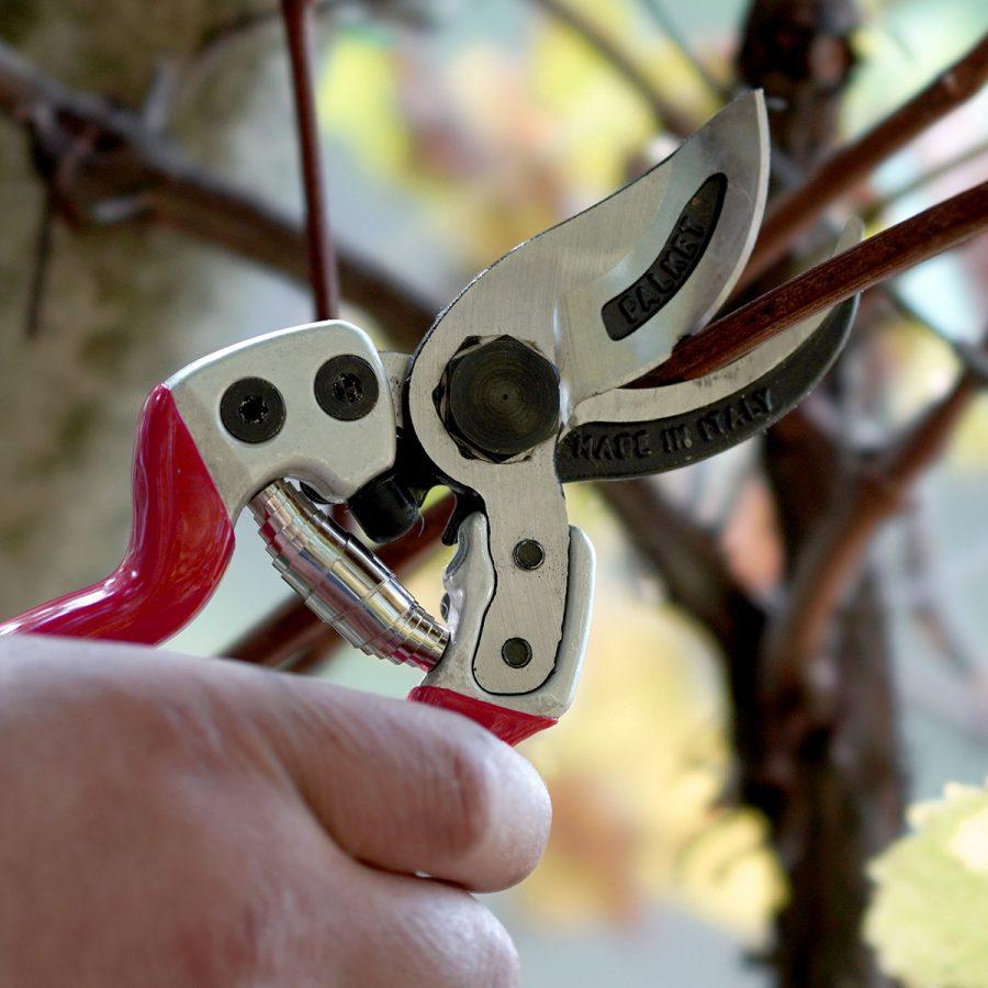 Double cut scissors with aluminium handles Falket
